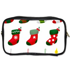 Christmas Stocking Candle Toiletries Bag (two Sides)