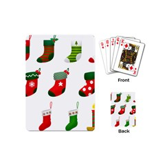 Christmas Stocking Candle Playing Cards (mini)