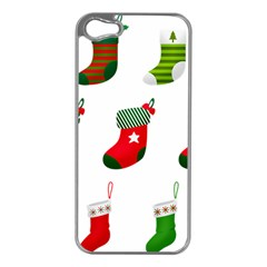 Christmas Stocking Candle Apple Iphone 5 Case (silver)