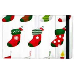 Christmas Stocking Candle Apple Ipad 2 Flip Case by Mariart