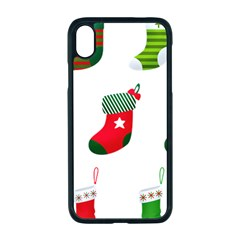 Christmas Stocking Candle Apple Iphone Xr Seamless Case (black)