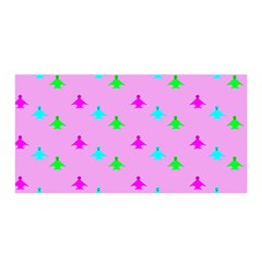Birds Background Pattern Satin Wrap