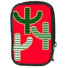 Cactus Western Background Compact Camera Leather Case by AnjaniArt