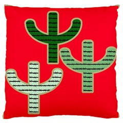 Cactus Western Background Large Flano Cushion Case (one Side) by AnjaniArt