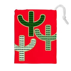 Cactus Western Background Drawstring Pouch (xl) by AnjaniArt