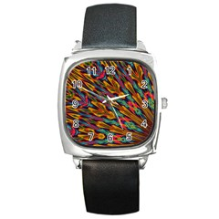 Background Abstract Texture Square Metal Watch