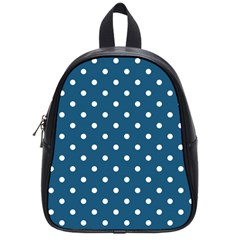 Polka Dot - Turquoise  School Bag (small) by WensdaiAmbrose