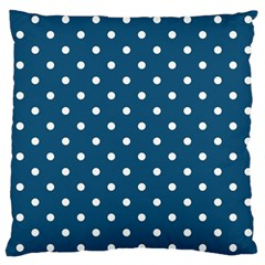Polka Dot   Turquoise  Large Flano Cushion Case (two Sides) by WensdaiAddamns