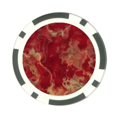 Marble Red Yellow Background Poker Chip Card Guard