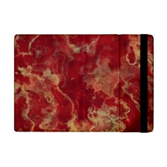 Marble Red Yellow Background Ipad Mini 2 Flip Cases