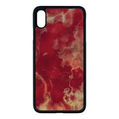 Marble Red Yellow Background Apple Iphone Xs Max Seamless Case (black)