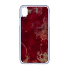 Marble Red Yellow Background Apple Iphone Xr Seamless Case (white)