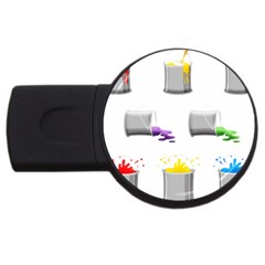 Paint Cans Usb Flash Drive Round (4 Gb)