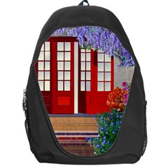 Garden Flowers Nature Red Pink Backpack Bag
