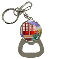 Garden Flowers Nature Red Pink Bottle Opener Key Chains