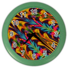 Background Abstract Texture Rainbow Light Color Wall Clock