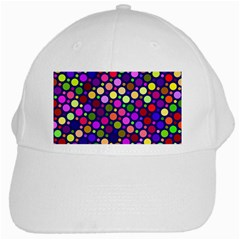 Circle District Colorful Structure White Cap by Jojostore
