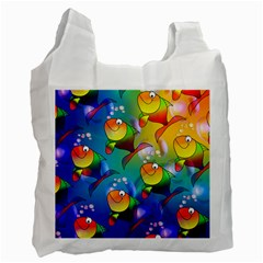 Abstract Fish Background Backdrop Recycle Bag (two Side)