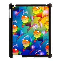 Abstract Fish Background Backdrop Apple Ipad 3/4 Case (black) by Jojostore