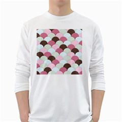 Scallop Fish Scales Scalloped Purple Long Sleeve T Shirt