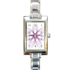 Spirograph Purple Circle Geometric Rectangle Italian Charm Watch
