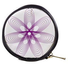 Spirograph Purple Circle Geometric Mini Makeup Bag by Jojostore