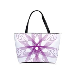 Spirograph Purple Circle Geometric Classic Shoulder Handbag by Jojostore