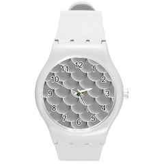 Scallop Fish Scales Scalloped Round Plastic Sport Watch (m) by Jojostore
