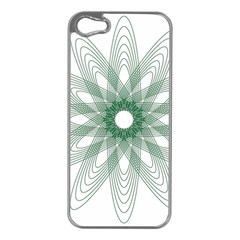 Spirograph Green Circle Geometric Apple Iphone 5 Case (silver) by Jojostore