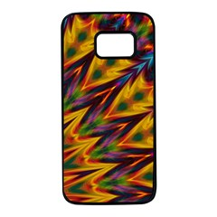 Background Abstract Texture Chevron Samsung Galaxy S7 Black Seamless Case by Mariart