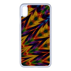 Background Abstract Texture Chevron Apple Iphone Xs Max Seamless Case (white)