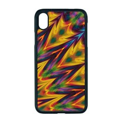 Background Abstract Texture Chevron Apple Iphone Xr Seamless Case (black)