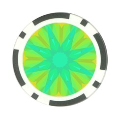 Kaleidoscope Background Green Poker Chip Card Guard (10 Pack)