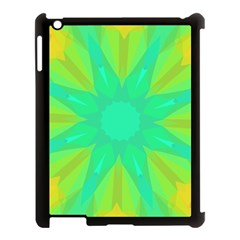 Kaleidoscope Background Green Apple Ipad 3/4 Case (black) by Mariart