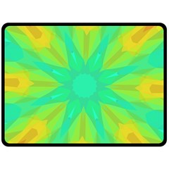 Kaleidoscope Background Green Double Sided Fleece Blanket (large)