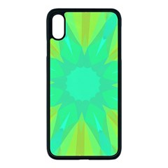 Kaleidoscope Background Green Apple Iphone Xs Max Seamless Case (black)