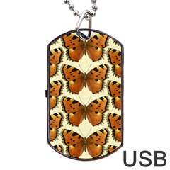 Butterflies Insects Dog Tag Usb Flash (two Sides) by Mariart
