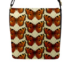 Butterflies Insects Flap Closure Messenger Bag (l)