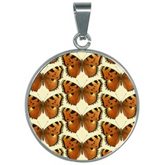 Butterflies Insects 30mm Round Necklace by Mariart