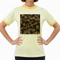 Honeycomb Beehive Nature Women s Fitted Ringer T Shirt