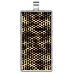 Honeycomb Beehive Nature Rectangle Necklace by Mariart