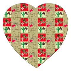 Background Western Cowboy Jigsaw Puzzle (heart)