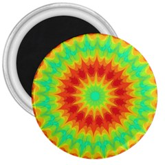 Kaleidoscope Background Red Yellow 3  Magnets