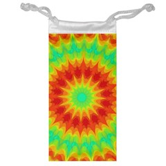 Kaleidoscope Background Red Yellow Jewelry Bag by Mariart