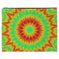Kaleidoscope Background Red Yellow Cosmetic Bag (xxxl) by Mariart
