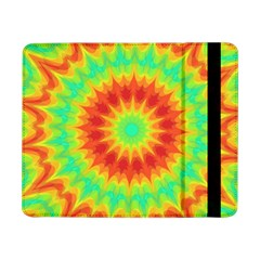 Kaleidoscope Background Red Yellow Samsung Galaxy Tab Pro 8 4  Flip Case by Mariart