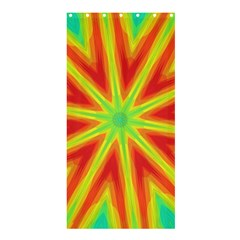 Kaleidoscope Background Star Shower Curtain 36  X 72  (stall)  by Mariart