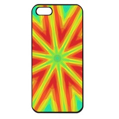 Kaleidoscope Background Star Apple Iphone 5 Seamless Case (black) by Mariart