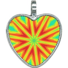 Kaleidoscope Background Star Heart Necklace by Mariart