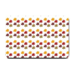 Autumn Leaves Small Doormat  by Mariart